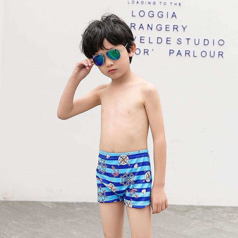 New Style CHILDREN'S Swimming Trunks BOY'S Handsome Cartoon Pirate Ship Male Baby Children AussieBum Send Hat