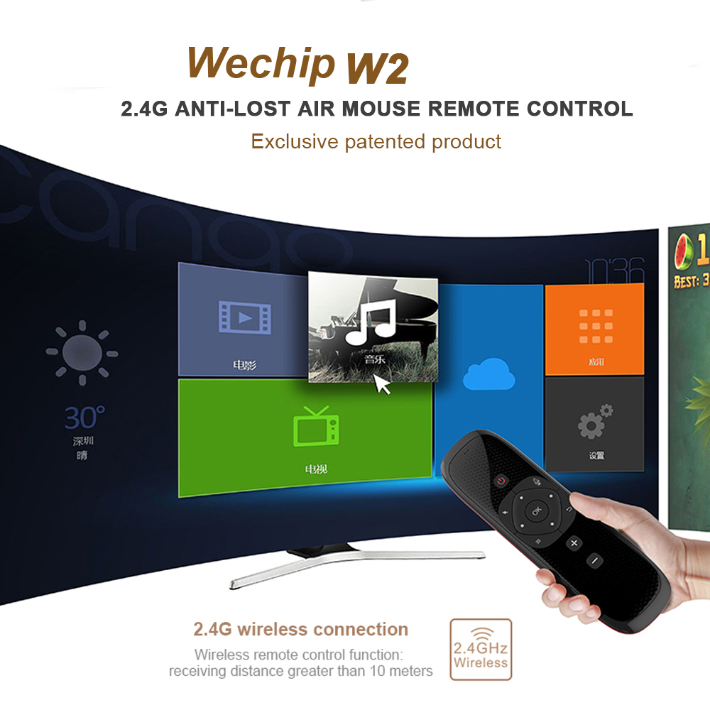 Image 5 - Wechip W2 Mini Keyboard with Touch Pad Mouse 2.4G Wireless Fly Air Mouse Voice Remote Control For Tv Box/Mini Pc/Tv PK Wechip W1Remote Controls   - AliExpress