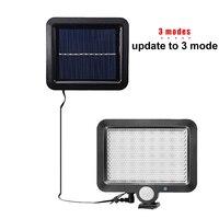 Led lawn Garden lampa słoneczna Outdoor 100 LEDs lampa słoneczna Motion street Wall + lampy yard garaż kryty home spot lights żyrandol w Lampy solarne od Lampy i oświetlenie na