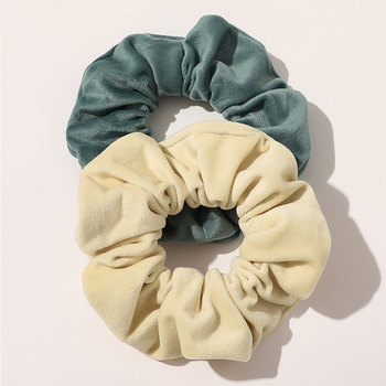 Solid Color Velvet Hair Rope Tie For Girls Women Elastic Hair Bands Scrunchie Sweet Hair Accessories Ponytail Holder skrunchies image