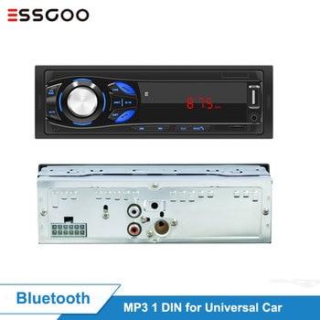 Essgoo 1 Din Car Radio Bluetooth Stereo LED Screen FM Aux Input Mp3 USB AUX IN Player DAB RDS AM Optional