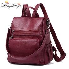 New 2020 Casual Women Backpack High Quality Leather Backpacks For Teenage Girls Female School Bag Shoulder Bag Bagpack mochila
