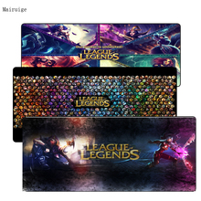 League of legends Mouse Pad Locked Edge Pad to Mouse Notbook Computer Mousepad 90x40cm Gaming Padmouse For CSGO Gamer цена