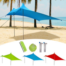 Toldo impermeable toldo Camping playa carpa cubierta ligera plegable(China)