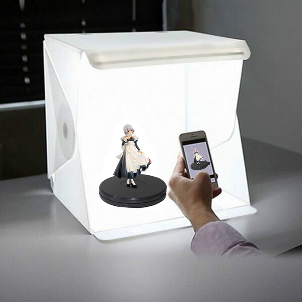 LED Folding Lightbox Portable Photography Photo Studio Softbox Brightness Light Box For DSLR Camera Tabletop Shooting