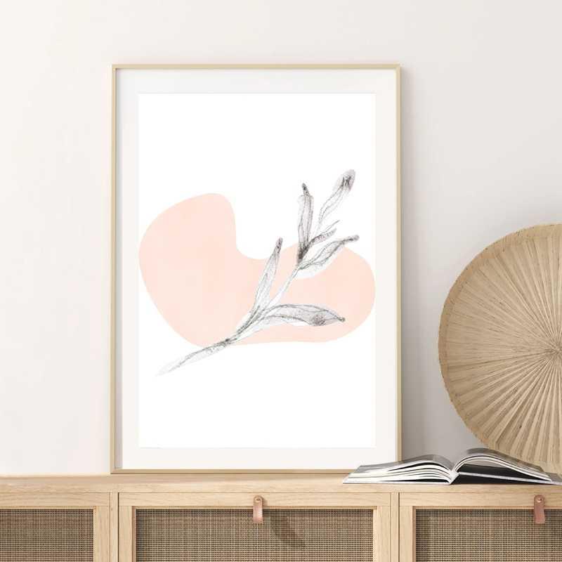Linea di Disegno Pittura di Arte astratta Complementi Arredo Casa Vita Quote di Stampa Del Fiore Del Rainbow Minimo di Arte Poster Stampa Galleria di Decorazione Della Parete di Arte