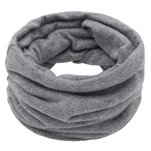 Sleeper #P501 2019 FASHION Unisex Solid Color Neck Warmer Fleece Knitted Scarf Scarves for boy girls Shawl Cowl шарф winter 10