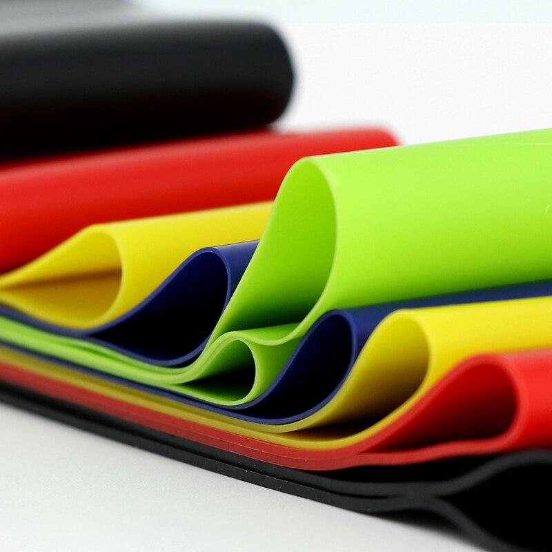 ginástica 0.35-1.1mm pilates bandas elásticas para esporte em casa