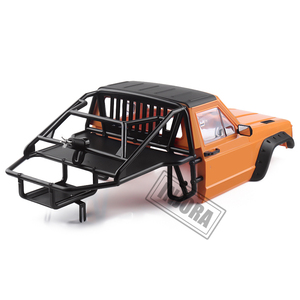 Image 4 - INJORA RC Car Cherokee Body Cab & Back Half Cage for 1/10 RC Crawler Traxxas TRX4 Axial SCX10 90046 Redcat GEN 8 Scout II