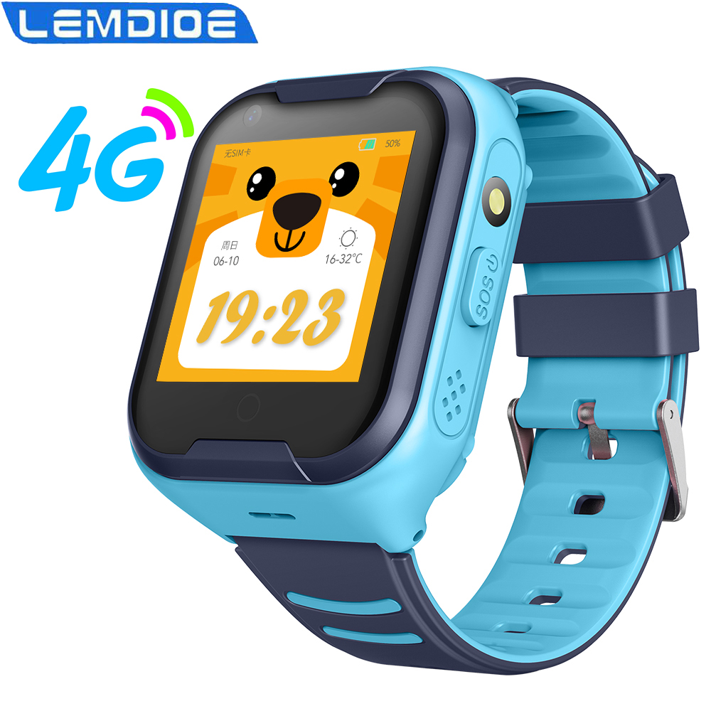 Kids Smart Watch 4G GPS Waterproof 650Mah Big Battery WIFI Remote Monitoring Video Call Smartwatch For Children