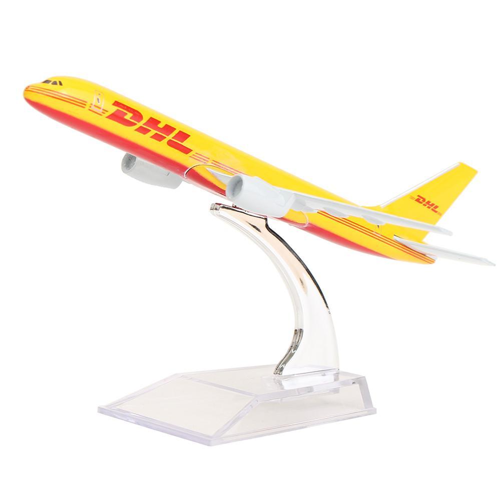 B757 DHL Kargo 16CM Metal Airplane Model Aircraft Model Building Kits Stand Aircraft Model Plane Children Toy Models