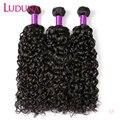 Luduna волнистые пряди ках, малазийские пряди волос, человеческие волосы для наращивания без повреждения кутикулы, 3/4 пряди, сделки, плетеные в...