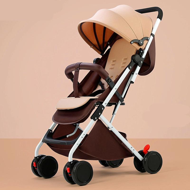 2020 Portable Baby Stroller Can Sit Reclining Baby Child Stroller Ultra Light Simple Umbrella Cart Stroller Folding