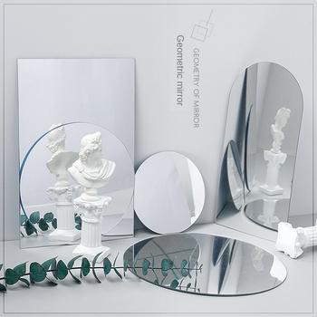 8 sztuk lustro akrylowe odbicie pokładzie reflektor Ins rekwizyty fotograficzne fotografia tło ozdoby Swing fotografia rekwizyty tanie i dobre opinie CN (pochodzenie) 675675