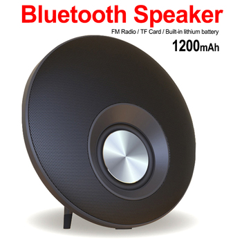 ABDO Wireless Bluetooth Speaker Round Shape Mega Bass Hands-free Support TF Card Music Play HIFI Subwoofer TF Card for All Phone