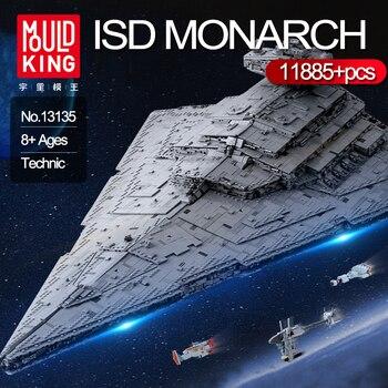 Mold King 13135 Star 11885 sztuk Wars Technic ISD Monarch klocki Fit zestaw klocków modele dzieci zabawki dla dzieci prezenty