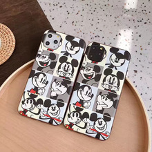 Cute cartoon Mickey phone case For iphone 11 pro max 11pro 7 8 6 6s Plus soft silicon cover For iphone XS Max X XR fashion shell