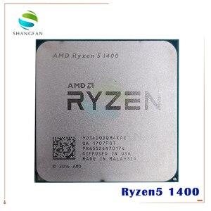 Image 1 - AMD Ryzen 5 1400 R5 1400 3.2 GHz Quad Core CPU Processor YD1400BBM4KAE Socket AM4