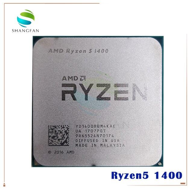 AMD Ryzen 5 1400 R5 1400 3.2 GHz Quad Core CPU Processor YD1400BBM4KAE Socket AM4