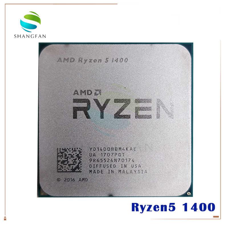 AMD Ryzen 5 1400 R5 1400 3.2 GHz Quad-Core procesor CPU YD1400BBM4KAE gniazdo AM4
