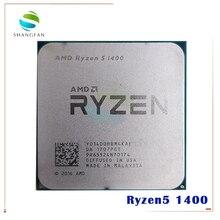 Processador amd ryzen 5 1400 r5 1400 ghz, cpu quad core com soquete am4