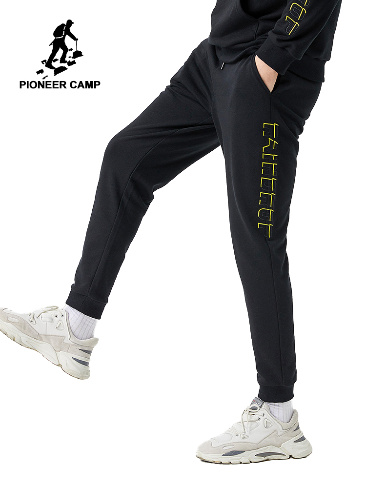 Pioneer Camp 2020 New Male Sweatpants Spring Summer Cotton Trousers Letter Printed Men's Joggers 2020 AZZ0102018