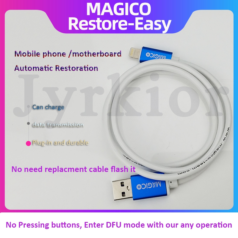 Magico Restore - Easy Cable For IPhone IPad Automatic Restoration  Automatic DFU Mode Upgrade Online Check Serial Number