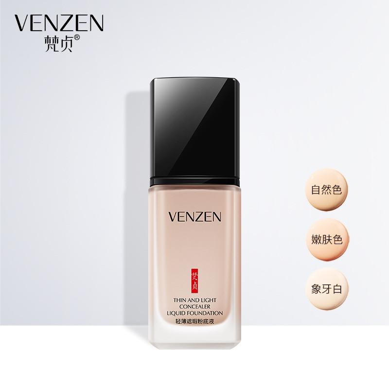 Venzen Waterproof Liquid BB Cream Concealer Moisturizing Foundation Makeup Whitening Brighten Face Skin Cosmetics