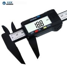 150 мм 6 дюймов ЖК-дисплей цифровых электронных углеродного волокна штангенциркуль микрометр