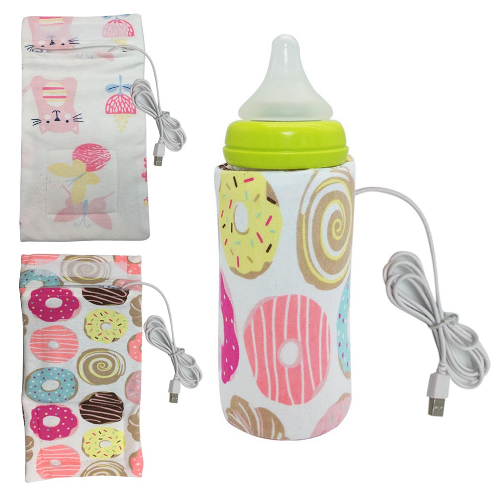 Baby Breast Milk Food Water Bottle Warmer Insulated Bag Portable Intelligent USB Baby Nursing Feeding Bottle Heater Thermal Bag