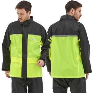 Image 3 - QIAN Raincoat Suit Impermeable Women/Men Hooded Motorcycle Poncho Rain Coat Motorcycle Rainwear S 4XL Hiking Fishing Rain Gear