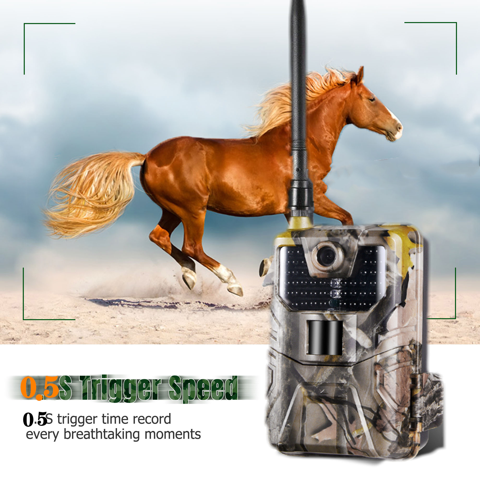 20MP 1080P 2G SMS MMS SMTP Wildlife Trail Kamera Foto Fallen Nachtsicht E mail Cellular Jagd outdoor Kamera überwachung - 6
