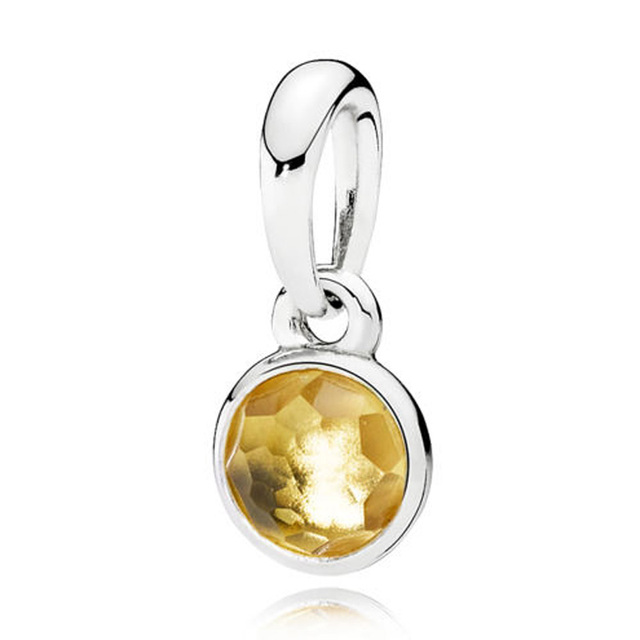 Month Droplet Birthstone With Crystal Necklace /& Bracelet Pendant Charm