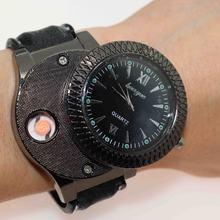 Мужские часы с зажигалкой 2020 модные ветрозащитные кварцевые