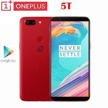 Google play novo oficial original oneplus 5t 4g smartphone snapdragon 835 6.01 polegada amoled 2160x1080p 20.0mp câmera 3300mah nfc