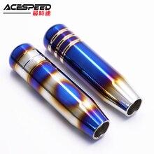 цена на Universal Aluminum Car Titanium Style Burnt Blue Gear Shift Knob Shifter Lever Head 13cm