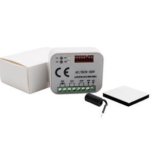 Image 4 - Uzaktan kumanda anahtarı alıcısı 433MHz 868MHz 300 315 318 390 MHz alıcı AC/DC 9 30V 300 900MHz garaj kapısı alıcısı
