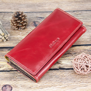 Image 5 - DICIHAYA Wax Oil Leather Women Wallet Genuine Leather Lining Purse Brand Design Clutch Money Bag Ladies Coins Holder Phone Bag