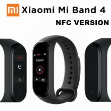 цены Original Xiaomi Mi Band 4 Smart Bracelet Color Touch Screen Music Heart Rate Miband 4 2019 NFC Version  Activity Fitness Tracker