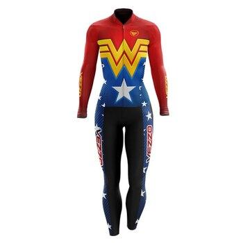 VEZZO-ropa de ciclismo para mujer, traje de Triatlón de manga larga, mono,...