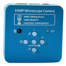 34Mp 2K 1080P 60Fps Hdmi Usb Industriële Elektronische Digitale Video Solderen Microscoop Camera Vergrootglas Voor Telefoon Pcbtht Repareren