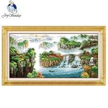 Landscape painting DIY cross stitch kits Chinese pattern pri