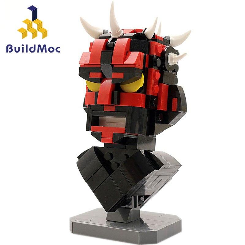Construcdmoc 12474 Star Wars dark Maul buste série de films blocs de construction briques compatibles Lepining starwars jouets enfants cadeau