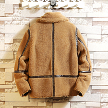 купить Winter New Jacket Men Warm Fashion Solid Color Casual Thickening Coat Men Wild Loose Lamb Fur Coat Male High Quality Clothes по цене 3588.08 рублей