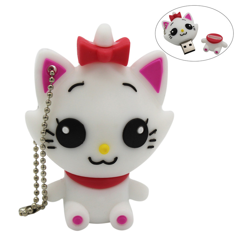 TEXT ME 5 Colour 64GB  Cute  Cat  USB Flash Drive 4GB 8GB 16GB 32GB Pendrive USB 2.0 Usb Stick