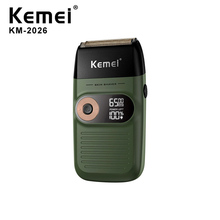Kemei KM-2026 Electric Cordless Razor Shaver Twin Blade Reciprocating Shaving Ma