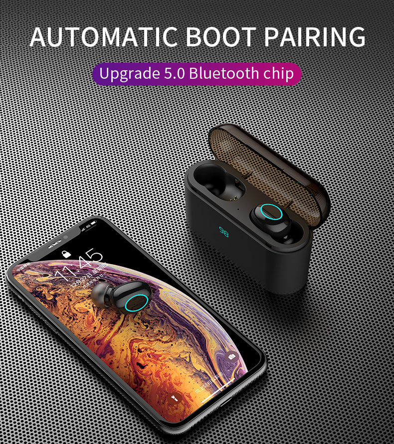 HBQ TWS Bluetooth Earphone Touch Control Mini Earbud With Mic LED Power Display Charge Box Wireless 3D Stereo Music Play Headset Hfa5c89d318d1470fb134764ec07454027