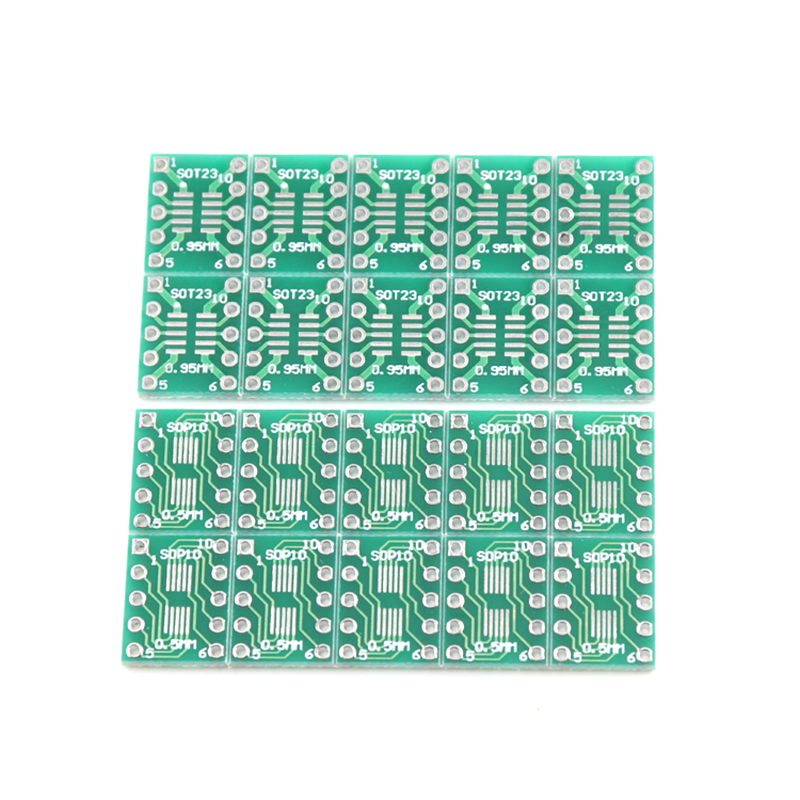 10pcs SOT23 MSOP10 to DIP Transfer Board DIP Pin Board Pitch Adapter image