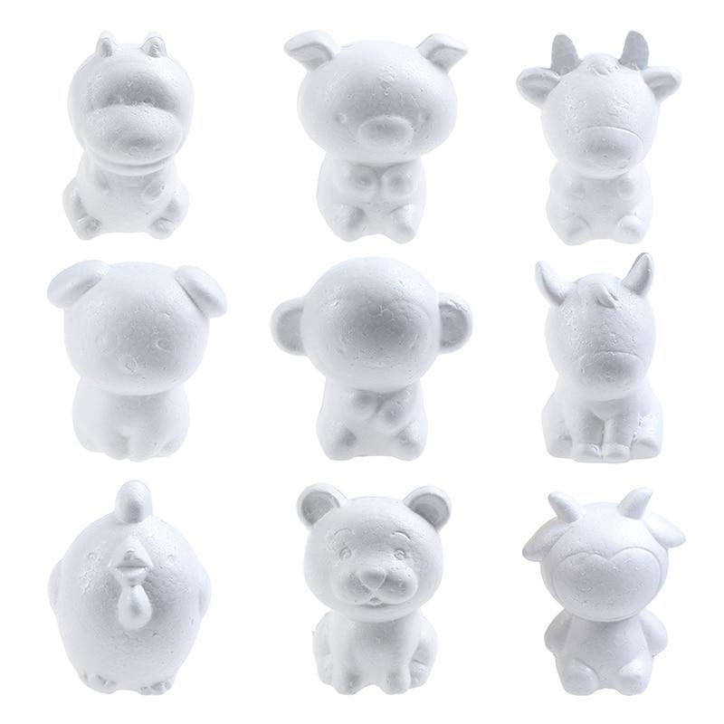 12cm Zodiac Signs Rat Kids Craft Toys Foam Animals Modeling Polystyrene Styrofoam Doll DIY Modeling Polystyrene Styrofoam