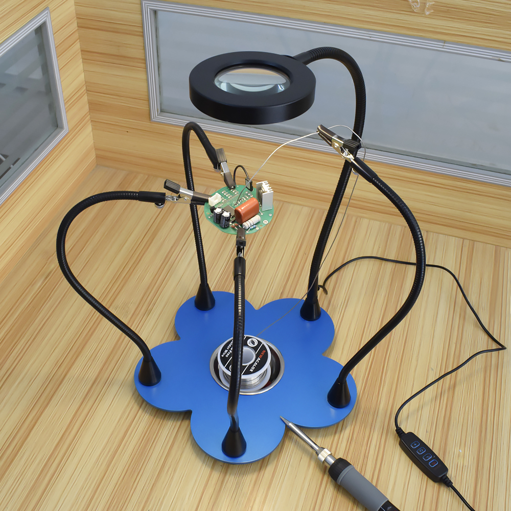 lâmpada para reparo eletrônico ferramenta titular solda